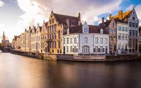 Картинка вода, дома, Бельгия, архитектура, Брюгге