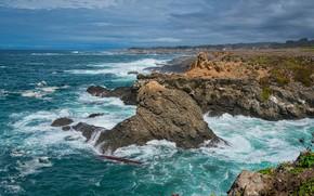 Картинка небо, скалы, побережье
