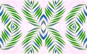 Картинка листья, ветки, фон, светлый