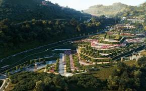 Картинка лес, горы, парк, дороги, Incredible Lanscape Project
