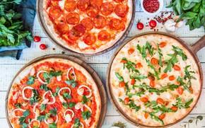 Картинка овощи, специи, Пиццы