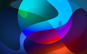 Картинка велосипед, цвет, силуэт, форма