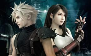 Картинка Final Fantasy, Тифа, Клод, Final Fantasy VII, Последняя фантазия 7, Final Fantasy VII Remake