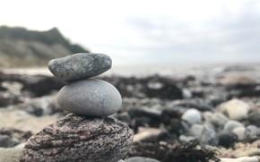 Картинка море, пляж, камни