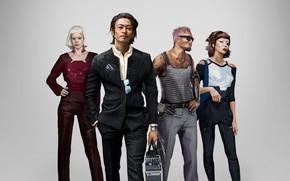 Картинка девушки, мужчина, киборги, персонажи, Cyberpunk 2077, Киберпанк 2077