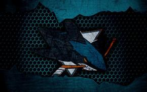 Картинка wallpaper, sport, logo, San Jose Sharks, NHL, hockey