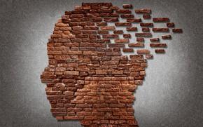 Картинка bricks, face, mind