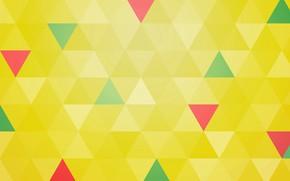 Обои линии, узор, краски, треугольник