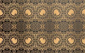 Картинка абстракция, узор, gold, орнамент, color