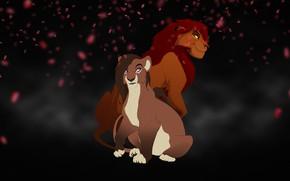 Картинка фон, арт, львы