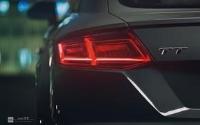 Картинка авто, фара, Audi TT