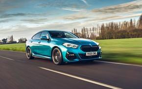 Картинка скорость, BMW, Gran Coupe, UK-spec, 2-Series, M Sport, 2020, 218i, F44