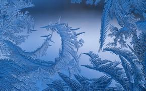 Картинка Зима, Окно, Мороз