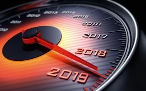 Картинка новый год, спидометр, стрелка, 2018, New Year, 2019