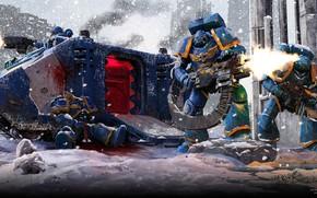 Картинка war, ultramarine, warhammer 40.000, warhamm