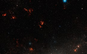 Картинка Dorado, LHA 120–N 44, Wide Field View, NGC 1929, Star Forming Region