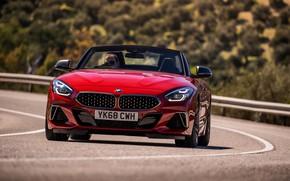Картинка красный, BMW, родстер, вид спереди, BMW Z4, M40i, Z4, 2019, UK version, G29