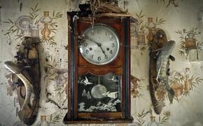 Картинка время, часы, паутина
