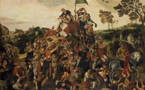 Картинка масло, картина, 1598, Питер Балтен, Peeter Baltens, Ярмарка Святого Мартина