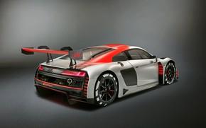 Картинка гоночное авто, Audi R8, вид сзади, LMS, 2019