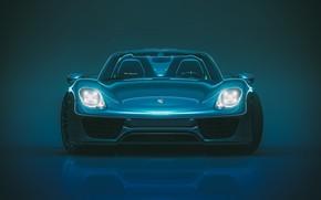 Картинка Авто, Porsche, Машина, Фары, 918, Передок, Porsche 918, Transport & Vehicles, by Giacomo Geroldi, Giacomo …