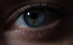 Картинка глаз, голубой, зрачок