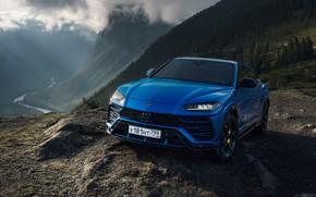 Картинка синий, Lamborghini, Ламборджини, urus