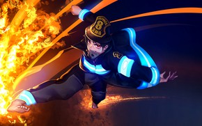 Картинка fire, red, flame, game, anime, power, fight, asian, manga, oriental, asiatic, powerful, strong, spark, seifuku, …