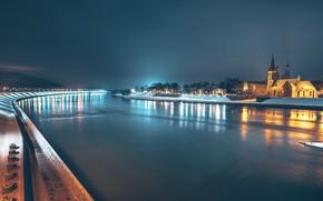 Картинка Lietuva, ночь, Kaunas, город