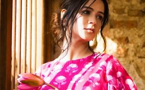 Картинка girl, eyes, smile, beautiful, model, beauty, lips, face, hair, pose, cute, indian, photoshoot