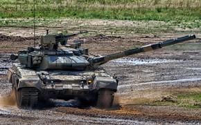 Картинка танк, полигон, Т-90С, бронетехника России, T-90S