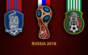 Картинка wallpaper, sport, logo, football, FIFA World Cup, Russia 2018, South Korea vs Mexico
