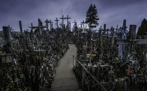 Картинка HILL OF CROSSES, kryžių kalnas, Lietuva, Šiaulių rajonas