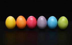 Картинка яйца, радуга, краски, Пасха