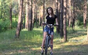 Картинка девушка, велосипед, милая, Margarita, Murat Kuzhakhmetov