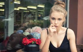 Картинка взгляд, девушка, модель, блондинка, Владимир Набоков