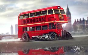 Картинка Тюнинг, Автобус, London, Транспорт, London Bus, Vehicles, Hoonigan, Bus, Transport, Transport & Vehicles, by Timothy …