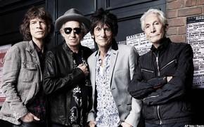 Картинка Rolling Stones, Мик Джаггер, Кит Ричардс, Чарли Уоттс, Ронни Вуд, Роллинг Стоунс