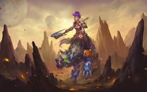 Картинка горы, зверь, орк, Hearthstone Heroes of Warcraft, Хартстоун Герои Варкрафта