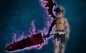 Картинка demon, sword, blood, game, anime, wings, boy, ken, blade, battle, asian, oni, japonese, Black Clover, …
