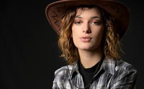 Картинка взгляд, портрет, шляпа, рубашка, Morgane