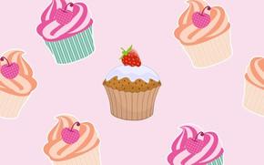 Картинка фон, текстура, десерт, cupcake, muffins