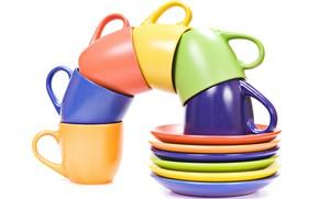 Картинка цвет, чашки, посуда