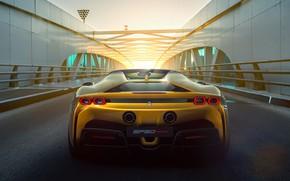 Картинка Ferrari, феррари, hybrid, Spider, 2021, SF90
