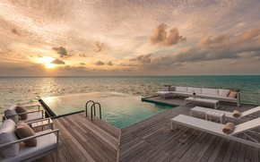 Картинка море, отдых, бассейн, Мальдивы, Conrad Maldives Rangali Island