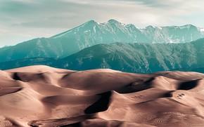Картинка горы, природа, пустыня