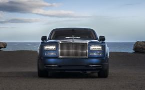 Картинка Phantom, Rolls Royce, Blue, Front, Face, Luxury, Sight