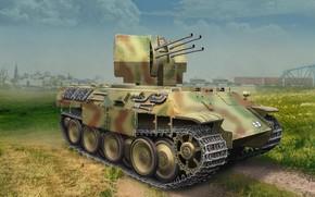 Картинка Германия, Flak 38, Зенитная самоходная установка, Flak Panther Ausf.D, 20 cm Flakvierling 38