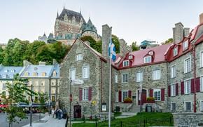 Картинка Дома, Дорога, Город, Улица, Канада, Квебек