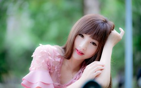 Картинка взгляд, девушка, азиатка, милашка